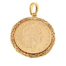 Bellezza 500 Lira Coin Byzantine Enhancer Pendant