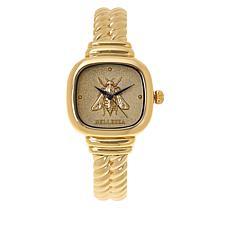 "Bellezza ""Barberini Bee"" Bronze Rope Cuff Watch"