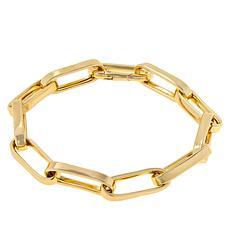 Bellezza Bronze Chunky Elongated Link Bracelet