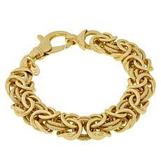 Bellezza Bronze Diamond-Cut Byzantine Link Bracelet