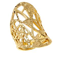 Bellezza Bronze Diamond-Cut Geometric Cutout  Ring