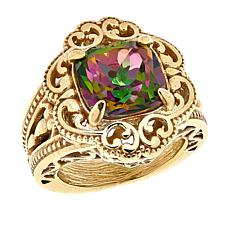 Bellezza Bronze Multi-Color Quartz Scroll Ring