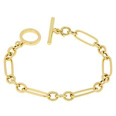 Bellezza Bronze Oval and Rolo Link T-Bar Bracelet