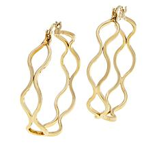 Bellezza Bronze Wavy Negative Space Hoop Earrings