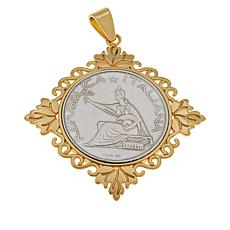 Bellezza Special Edition 500 Lira Coin Bronze Leaf Pendant