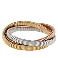 Bellezza Tri-Color Bronze 3-Row Tubogas Bracelet