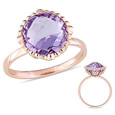 Bellini 14K Rose Gold Amethyst and Diamond Cocktail Ring