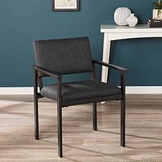 Benziger Upholstered Arm Chair - Charcoal