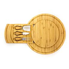 BergHOFF Bamboo Multi-Level Cheese Board with 3 Tools