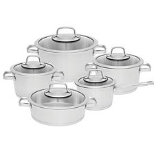 BergHOFF Essentials 10-piece 18/10 SS Cookware Set, Manhattan