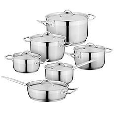 BergHOFF Essentials 12-piece 18/10 Stainless Steel Cookware Set, Hotel