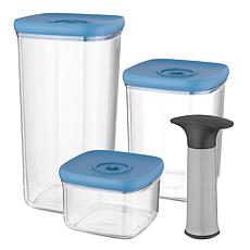 BergHOFF Leo Collection 4-piece Vacuum Food Container Set - Blue