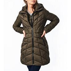 Bernardo EcoPlume Packable Walker Jacket with Removable Hood/Bib