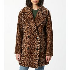Bernardo Leopard Faux Fur Coat