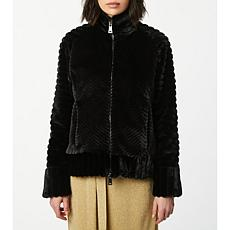 Bernardo Zig Zag Faux Fur Jacket