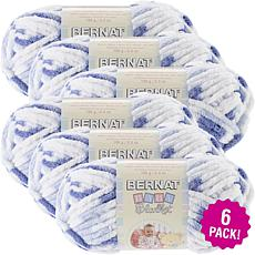 Bernat Baby Blanket Yarn 6-pack - Little Denim Print