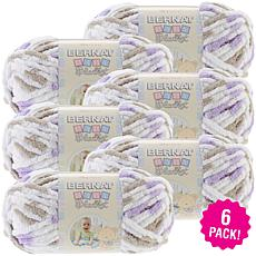 Bernat Baby Blanket Yarn 6-pack - Little Lilac Dove Print