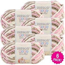 Bernat Baby Blanket Yarn 6-pack - Little Petunias