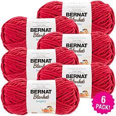 Bernat Blanket Brights Yarn 6-pack - Race Car Red
