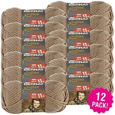 Bernat Softee Chunky Ombre Yarn 12-pack - Soft Taupe