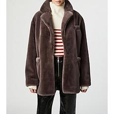 Bernie Solid Faux Fur Blazer Coat