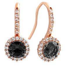 Bertha Juliet Collection Cubic Zirconia Halo Earrings