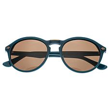 Bertha Kennedy Polarized Sunglasses with Teal Frame and Brown Lenses