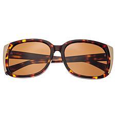 Bertha Natalia Polarized Sunglasses w/ Tortoise Frame and Brown Lenses