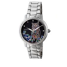 "Bertha Watches ""Madeline"" Owl Stainless Steel Bracelet Watch"