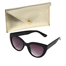 Bethenny Large Cateye Sunglasses with Case and Cleaning Cloth