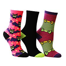 Betsey Johnson 3-pack Halloween Crew Socks