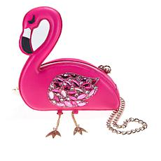 Betsey Johnson Flamingoals Crossbody