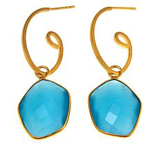 Betty Carré Freeform Stone Goldtone Swirl Drop Earrings