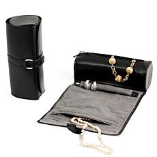 Bey-Berk Black Leather Jewelry Roll