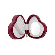 Bey-Berk Red Faux-Leather Heart-Shaped Jewelry Box - Small