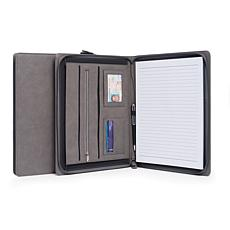 BeyBerk International Multi-Compartment Business Padfolio - Grey