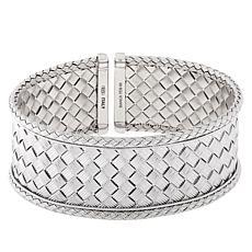 Bianca Milano Sterling Silver Basketweave Cuff Bracelet