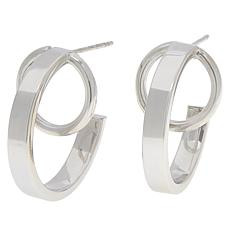 Bianca Milano Sterling Silver Circle with Hoop Earrings