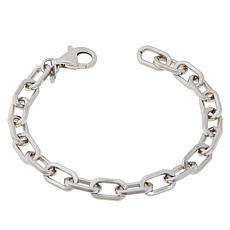 Bianca Milano Sterling Silver Elongated Oval Link Bracelet
