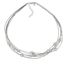Bianca Milano Sterling Silver Multi-Chain Bead Necklace