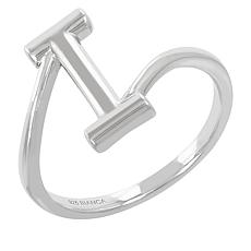 Bianca Milano Sterling Silver Polished Initial Ring