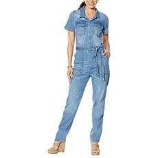 Billy T Denim Utility Jumpsuit with Belt