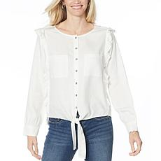 Billy T Felicity Long-Sleeve Ruffled Shirt