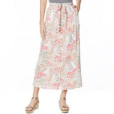 Billy T Gravy Train Print Flowy Skirt