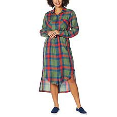 Billy T High Desert Plaid 2-Way Maxi Shirtdress