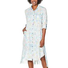 Billy T Prismatic Hi-Low Shirtdress