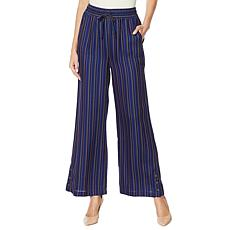 Billy T Striped Wide-Leg Pant