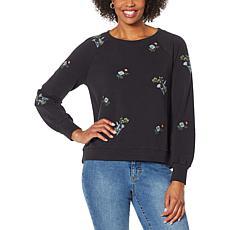 Billy T Wild Floral Embroidered Sweatshirt