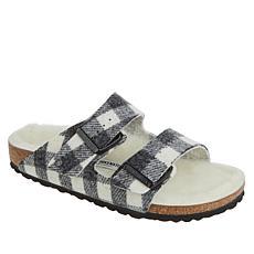 Birkenstock Arizona Shearling Plaid Sandal