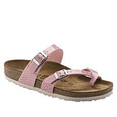 Birkenstock Mayari Snake Embossed Toe-Loop Sandal